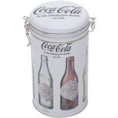Lata-Decorativa-Coca-Cola-Redonda-20cm-Cinza-Evolution-Urban