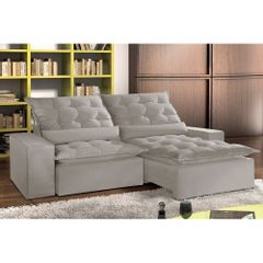 Sofa-Retratil-e-Reclinavel-3-Lugares-Cinza-em-Veludo-210m-Lucan-1