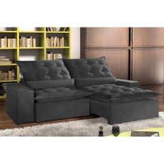 Sofa-Retratil-e-Reclinavel-3-Lugares-Preto-em-Suede-210m-Lucan-1