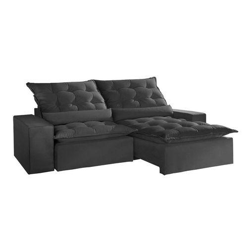 Sofa-Retratil-e-Reclinavel-4-Lugares-Preto-em-Suede-230m-Lucan