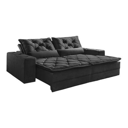 Sofa-Retratil-e-Reclinavel-4-Lugares-Preto-em-Suede-250m-Lancelot