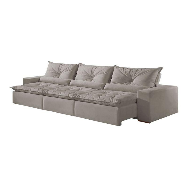 Awesome Sofa Retratil E Reclinavel 5 Lugares Cinza Em Veludo 2 90M Galahad Evergreenethics Interior Chair Design Evergreenethicsorg