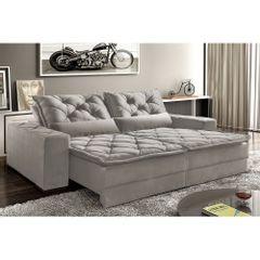 Sofa-Retratil-e-Reclinavel-5-Lugares-Cinza-em-Veludo-290m-Lancelot-1