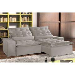 Sofa-Retratil-e-Reclinavel-5-Lugares-Cinza-em-Veludo-290m-Lucan-1