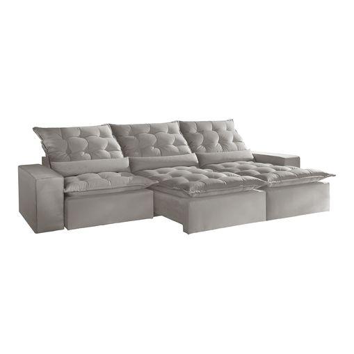 Sofa-Retratil-e-Reclinavel-5-Lugares-Cinza-em-Veludo-320m-Lucan