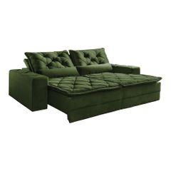Sofa-Retratil-e-Reclinavel-5-Lugares-Verde-em-Veludo-290m-Lancelot