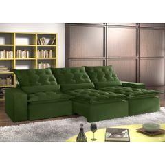 Sofa-Retratil-e-Reclinavel-5-Lugares-Verde-em-Veludo-320m-Lucan-1