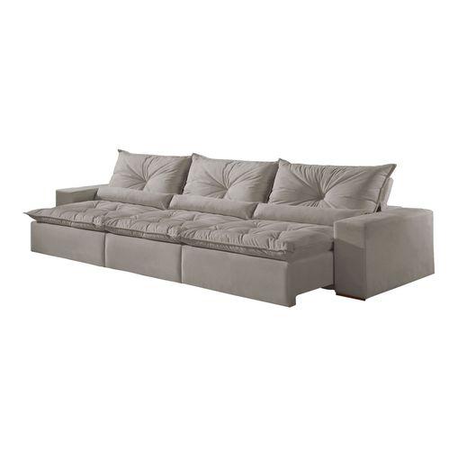 Sofa-Retratil-e-Reclinavel-6-Lugares-Cinza-em-Veludo-350m-Galahad