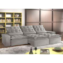 Sofa-Retratil-e-Reclinavel-7-Lugares-Cinza-em-Veludo-410m-Lucan-1