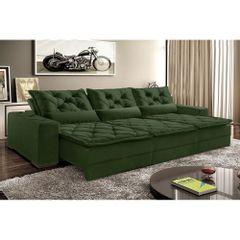 Sofa-Retratil-e-Reclinavel-7-Lugares-Verde-em-Veludo-410m-Lancelot-1