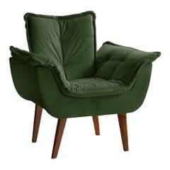 Poltrona-Decorativa-Verde-em-Veludo-com-Pes-Palito-Kay