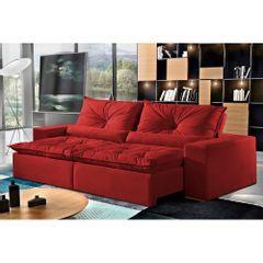 Sofa-Retratil-e-Reclinavel-4-Lugares-Vermelho-em-Veludo-230m-Galahad-1