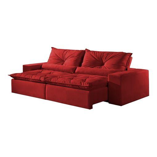 Sofa-Retratil-e-Reclinavel-4-Lugares-Vermelho-em-Veludo-250m-Galahad