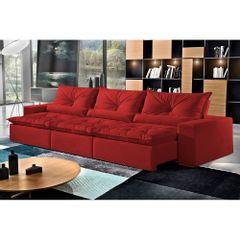 Sofa-Retratil-e-Reclinavel-5-Lugares-Vermelho-em-Veludo-290m-Galahad-1