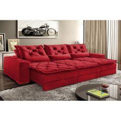 Sofa-Retratil-e-Reclinavel-5-Lugares-Vermelho-em-Veludo-290m-Lancelot-Plus-1