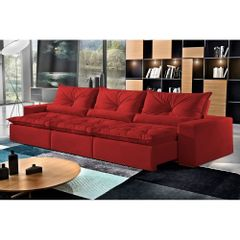 Sofa-Retratil-e-Reclinavel-5-Lugares-Vermelho-em-Veludo-320m-Galahad-1