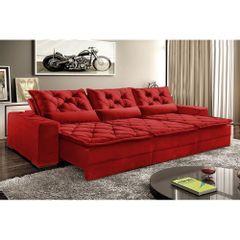Sofa-Retratil-e-Reclinavel-5-Lugares-Vermelho-em-Veludo-320m-Lancelot-1