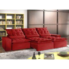 Sofa-Retratil-e-Reclinavel-5-Lugares-Vermelho-em-Veludo-320m-Lucan-1