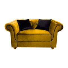 Sofa-2-Lugares-Amarelo-em-Veludo-144m-Meire