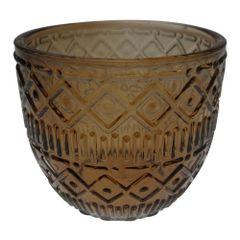 Castical-de-Vidro-65cm-Marrom-Aztec-Lines