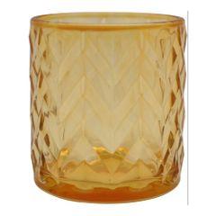 Castical-de-Vidro-8cm-Dourado-Wavy-Lines