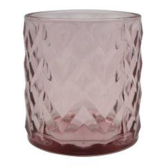 Castical-de-Vidro-8cm-Rosa-Wavy-Lines