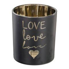 Castical-de-Vidro-10cm-Preto-e-Dourado-Love