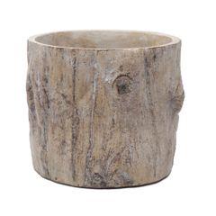 Vaso-de-Ceramica-15cm-Texturizado-Wood-Trunk-1