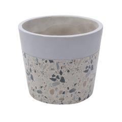 Vaso-de-Concreto-15cm-Cinza-e-Bege-Granilite-Stardust-