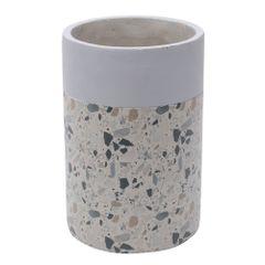 Vaso-de-Concreto-18cm-Cinza-e-Bege-Granilite-Stardust-