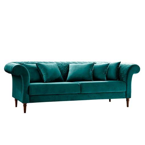 Sofa-3-Lugares-Azul-Esmeralda-em-Veludo-226m-Magnolia.jpg