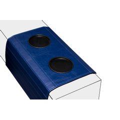 Esteira-Porta-Copos-para-Sofa-355cm-em-Corino-Azul
