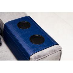 Esteira-Porta-Copos-para-Sofa-355cm-em-Corino-Azul-ambientado