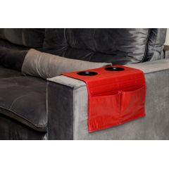 Esteira-Porta-Copos-e-Controle-para-Sofa-em-Corino-Vermelho-ambientada