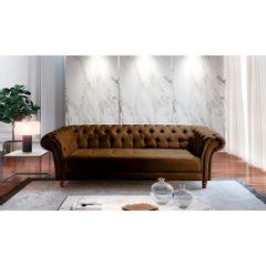 Sofa-3-Lugares-Marrom-em-Veludo-244m-Zaha---Ambiente