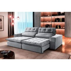 Sofa-Retratil-e-Reclinavel-3-Lugares-Cinza-230m-Renzo---Ambiente