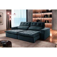 Sofa-Retratil-e-Reclinavel-4-Lugares-Azul-270m-Renzo---Ambiente