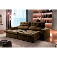Sofa-Retratil-e-Reclinavel-4-Lugares-Marrom-290m-Renzo---Ambiente