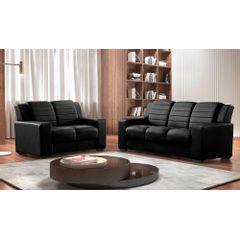 Sofa-2-Lugares-Preto-em-Korano-148m-Siza---Ambiente