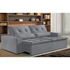 Sofa-Retratil-e-Reclinavel-4-Lugares-Cinza-250m-Bjarke---Ambiente