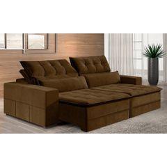 Sofa-Retratil-e-Reclinavel-4-Lugares-Marrom-290m-Odile---Ambiente
