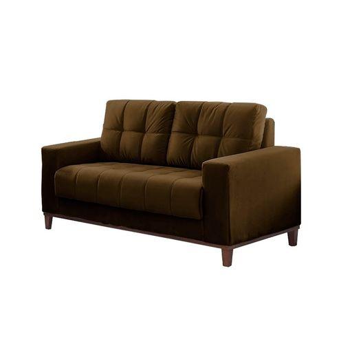 Sofa-2-Lugares-Marrom-em-Veludo-157m-Lerner