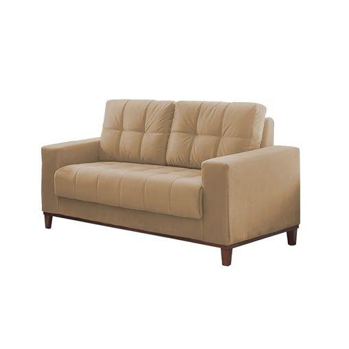 Sofa-2-Lugares-Bege-em-Veludo-157m-Lerner