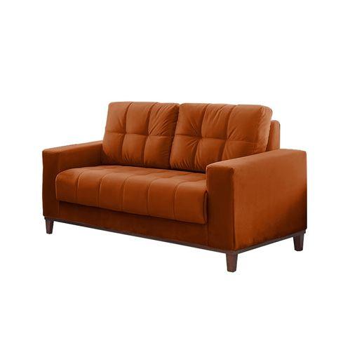 Sofa-2-Lugares-Ocre-em-Veludo-157m-Lerner