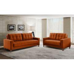 Sofa-2-Lugares-Ocre-em-Veludo-157m-Lerner---Ambiente