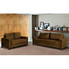 Sofa-2-Lugares-Marrom-em-Veludo-157m-Etel---Ambiente