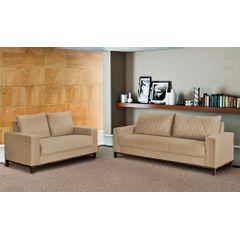 Sofa-2-Lugares-Bege-em-Veludo-157m-Etel---Ambiente