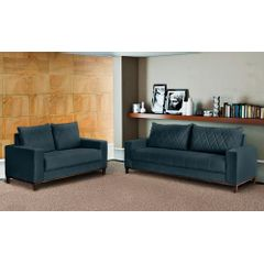 Sofa-3-Lugares-Azul-em-Veludo-217m-Etel---Ambiente