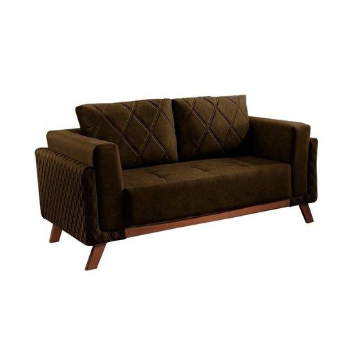 Sofa-2-Lugares-Marrom-em-Veludo-157m-Eileen