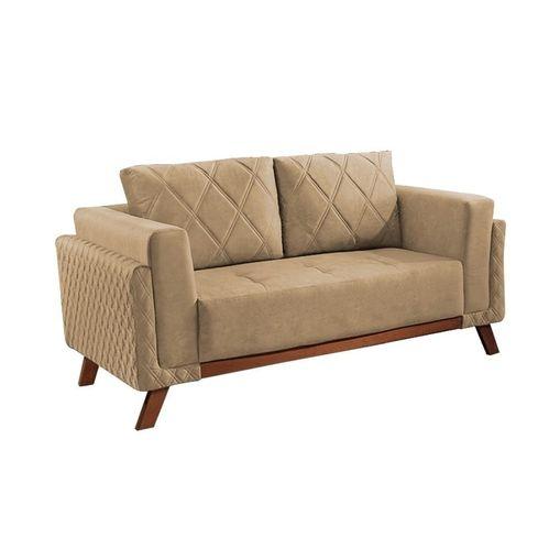 Sofa-2-Lugares-Bege-em-Veludo-157m-Eileen
